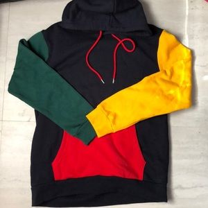 Mens Forever 21 Pullover Hoody NEW ColorBlock